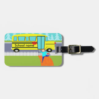 Customizable Catching the School Bus Luggage Tag