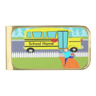 Customizable Catching the School Bus Money Clip