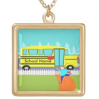 Customizable Catching the School Bus Necklace