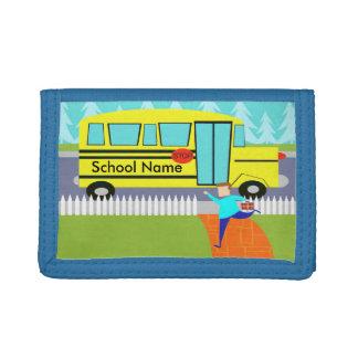 Customizable Catching the School Bus Nylon Wallet
