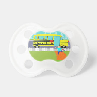 Customizable Catching the School Bus Pacifier BooginHead Pacifier