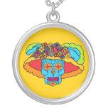 Customizable Catrina Sugar Skull Personalized Necklace