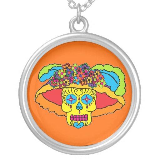 Customizable Catrina Sugar Skull Pendant
