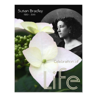 Customizable Celebration of Life with Portrait - 4.25x5.5 Paper Invitation Card