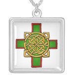 Customizable Celtic Cross Art Necklace