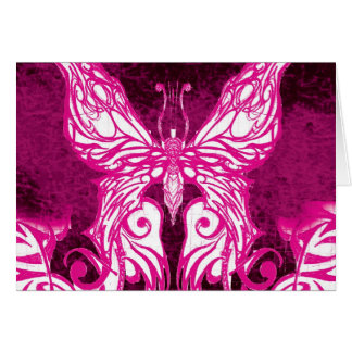 Customizable Celtic/Tribal Pink Butterfly Card
