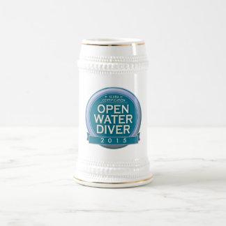 Customizable Certified Open Water Diver 18 Oz Beer Stein