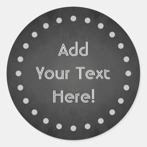 Customizable Chalk Polka Dot Stickers (Round)