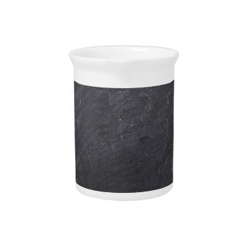 Aqua Customizable Chalkboard Background Drink Pitcher
