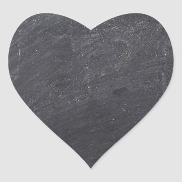 Beach Themed Customizable Chalkboard Background Heart Sticker