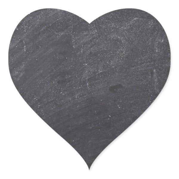 Customizable Chalkboard Background Heart Sticker