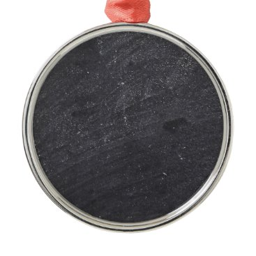 Beach Themed Customizable Chalkboard Background Metal Ornament