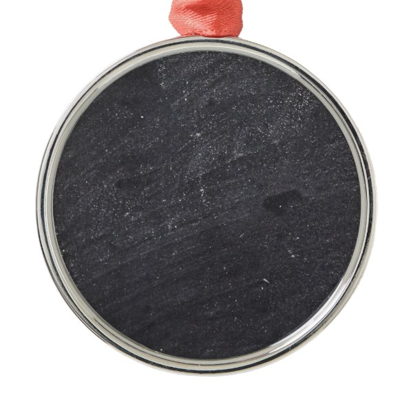 Customizable Chalkboard Background Metal Ornament