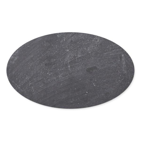 Customizable Chalkboard Background Oval Sticker