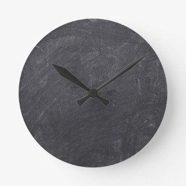 Beach Themed Customizable Chalkboard Base Round Clock