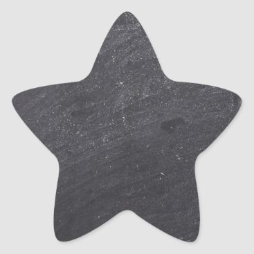 Beach Themed Customizable Chalkboard Base Star Sticker