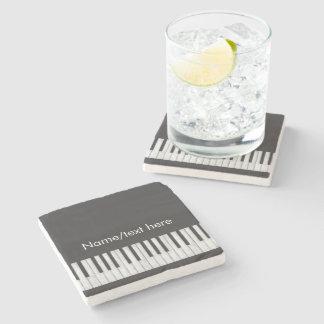 Customizable Chalkboard Keyboard Stone Coaster