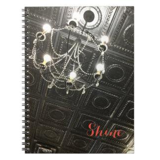 Customizable Chandelier Spiral Notebook