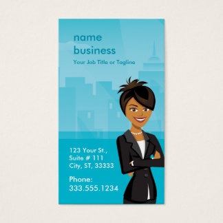 Customizable Character Business Card Vertical