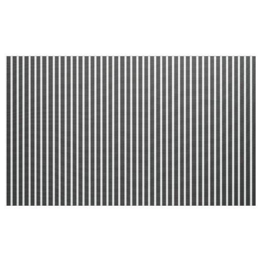 Customizable Charcoal Gray And White Stripe Fabric Zazzlecom