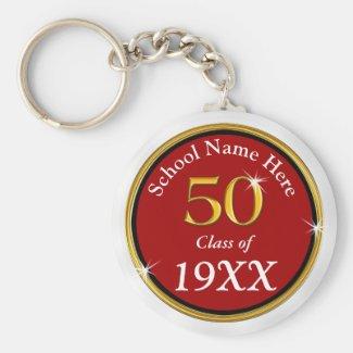 Customizable Cheap 50 Year Class Reunion Souvenirs Keychain
