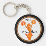 Customizable Cheer Party Favors Your Colors, Text Basic Round Button Keychain