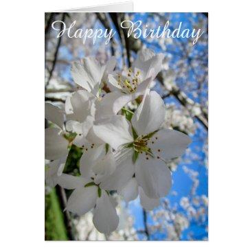 hallowelllake Customizable Cherry Blossoms Birthday Card