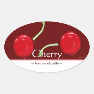 Customizable Cherry Oval Stickers