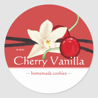 Customizable Cherry Vanilla Stickers
