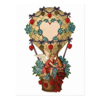 Customizable Cherub in Hot Air Balloon Postcard