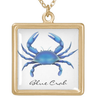 Customizable Chesapeake Blue Crab Necklace