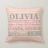 Customizable Chevron Baby Nursery Pillow