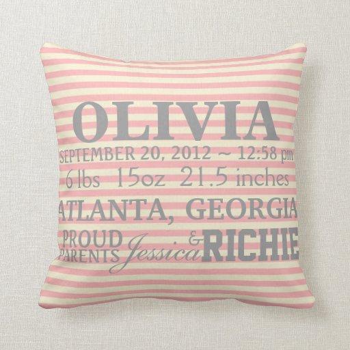 Customizable Chevron Baby Nursery Pillow