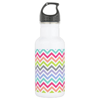 Customizable | Chevron Stripes Stainless Steel Water Bottle