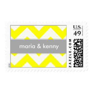 Customizable Chevron with Gray Stripe Stamps
