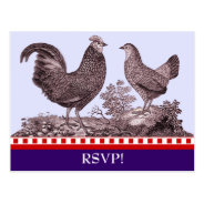 Customizable Chicken BBQ RSVP Response Card Postcard at Zazzle