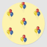 Customizable Chid Birthday Party Stickers Yellow
