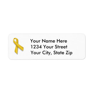 Customizable Childhood Cancer Address Label
