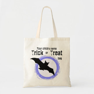 Customizable Child's Trick or Treat Bat Bag