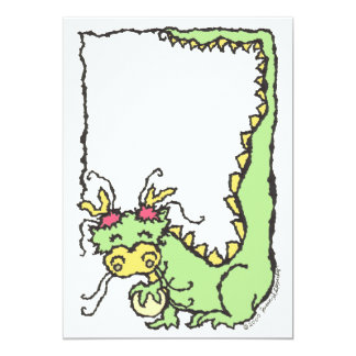Customizable Chinese Dragon Children's Party Card