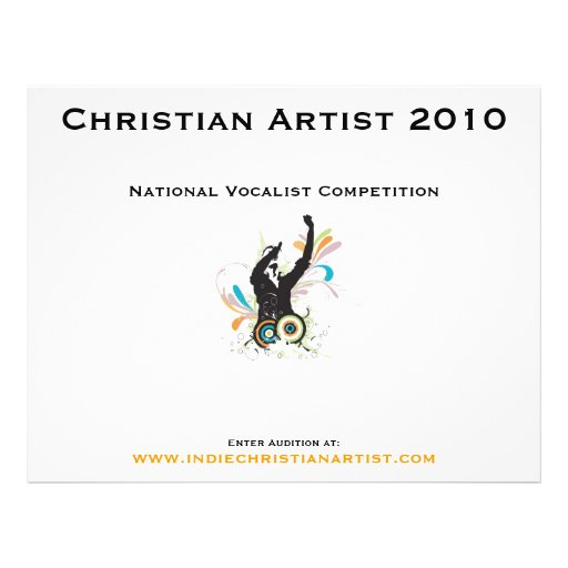 Customizable Christian Artist 2010 Pamphlet Full Color Flyer