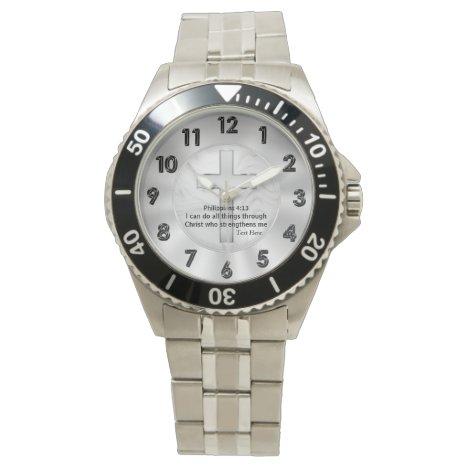 Customizable Christian Bible Verse Wrist Watch