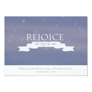 Customizable Christian Christmas Card - Verse