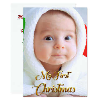 Customizable Christmas Card photo of child