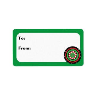 Customizable Christmas Dartboard Address Label
