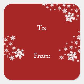 Customizable Christmas Gift Tag Sticker