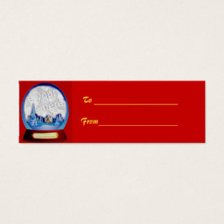 Customizable Christmas Globe Gift Tag