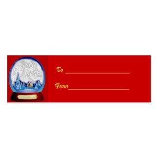 Customizable Christmas Globe Gift Tag Business Card Template