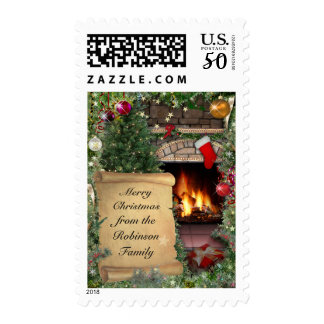 Customizable Christmas Greeting Postage