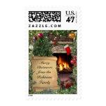 Customizable Christmas Greeting Stamp